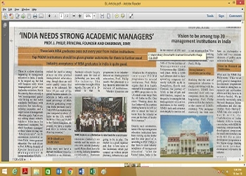 Chairman Article in Business Line on Management Education in India