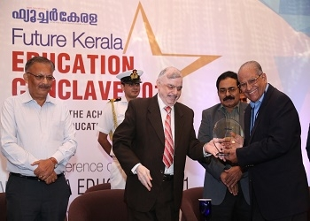 Prof. J. Philip, honoured with the Golden Leaf Excellence Award