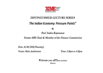 DISTINGUISHED LECTURE SERIES The Indian Economy: Pressure Points